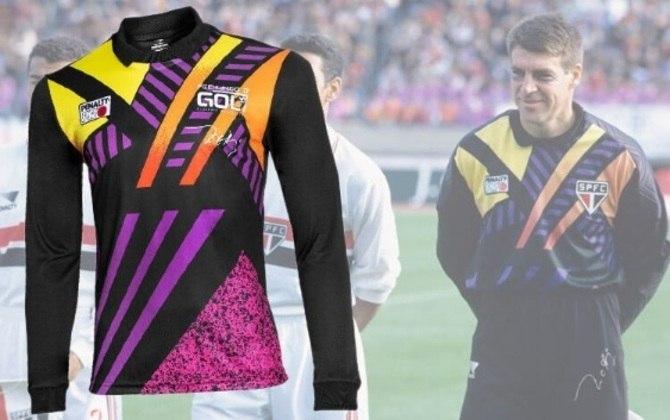 O goleiro Zetti utilizou uma camisa no Mundial de Clubes conquistado em 1993 pelo São Paulo, bastante colorida. Ano passado, ele lançou a releitura da peça