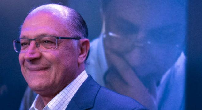 O governador de São Paulo, Geraldo Alckmin, na pré-estreia de Nada a Perder