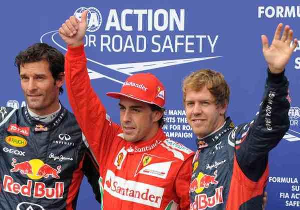 O grande domínio da Red Bull com Sebastian Vettel contribuiu para a dificuldade de Alonso