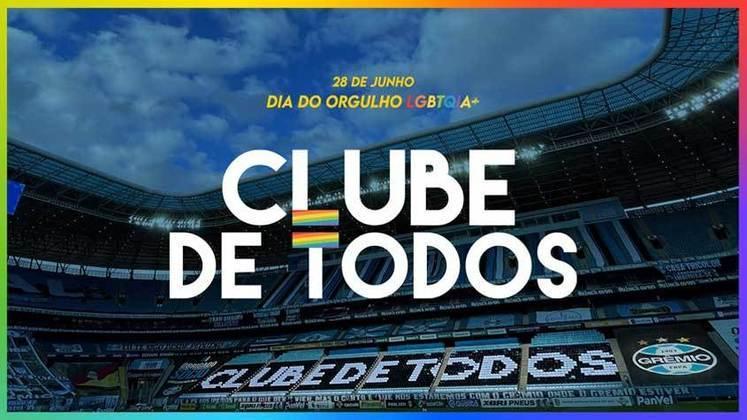 """O Grêmio também destacou a importância da diversidade em sua torcida e ressaltou que """"liberdade e respeito"""" devem estar acima de todos."""