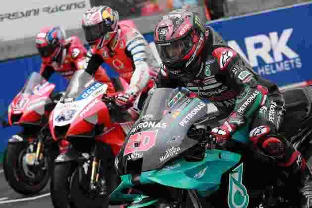 O grid de largada da MotoGP
