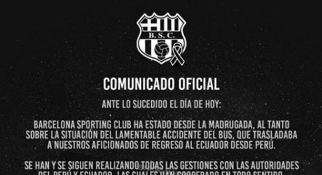 O grupo voltava de Lima após assistir ao confronto entre o clube e o Sporting Cristal, que aconteceu na última quinta-feira (13) pela Libertadores