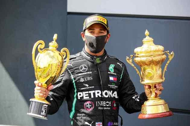O heptacampeão Lewis Hamilton foi ao pódio 14 vezes.