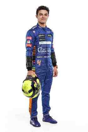 O inglês Lando Norris segue na equipe que o abriga na Fórmula 1 desde 2019. No ano passado, ficou com a nona posição no campeonato
