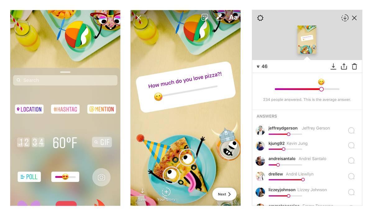 Instagram Stories ganha emoji deslizável para enquetes mais interativas