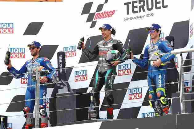 O ítalo-brasileiro ainda subiu mais duas vezes no degrau mais alto do pódio: nos GPs de Teruel e Valência, sendo um dos maiores vencedores de 2020