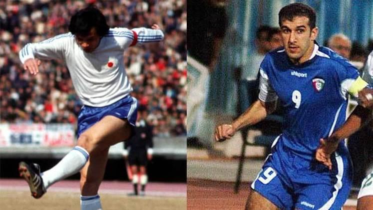 O japonês Kunishige Kamamoto também aparece com a mesma média de 0,99 gols por jogo que Puskás teve. Com 75 gols em 76 partidas, o ex-jogador empata com Bashar Abdullah, do Kuwait, que fez 134 jogos pelo seu país