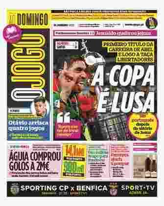 O Jogo - Jornal português destacou a segunda conquista da Libertadores por um técnico português, agora com Abel Ferreira. Ele repetiu o feito de Jorge Jesus.