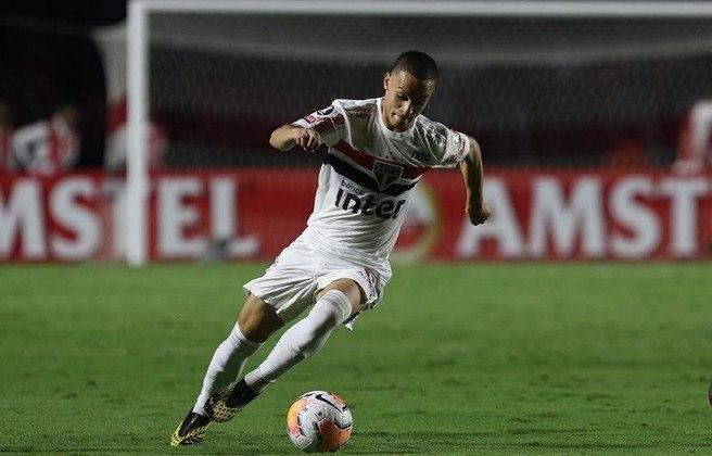 O jovem atacante de 21 anos fez 52 jogos pelo clube, com seis gols marcados. Venceu a Copa São Paulo de Juniores em 2019