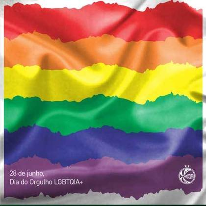 O Juventude se juntou aos vizinhos gaúchos e também publicou uma homenagem ao Dia Internacional do Orgulho LGBTQIA+, pedindo respeito e igualdade às pessoas LGBTQIA+ e