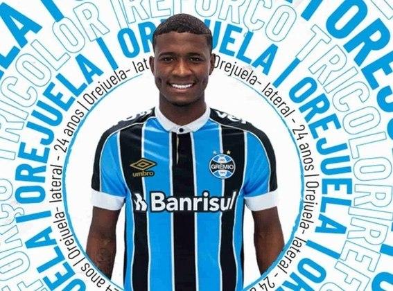 O lateral-esquerdo Orejuela esté emprestado ao Grêmio até dezembro de 2020, mesma duração de seu vínculo com a Raposa.