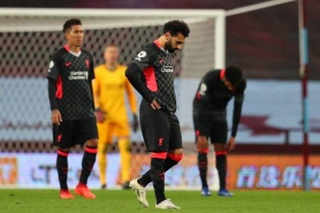 O Liverpool, atual campeão inglês, sofreu uma goleada história para o Aston Villa por 7 a 2