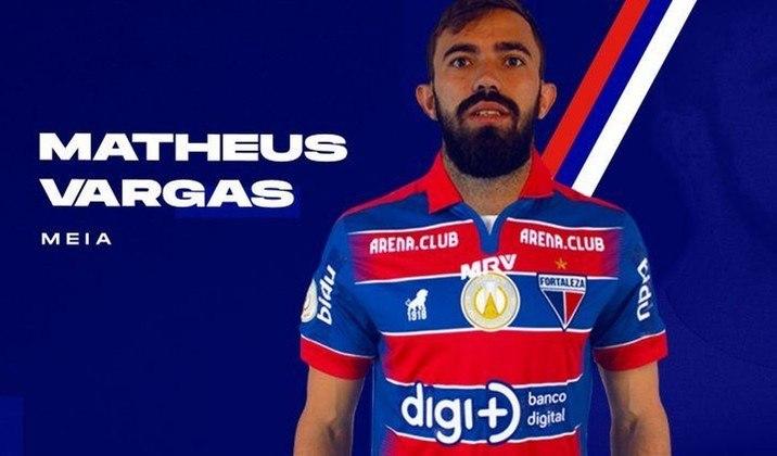 O meia Matheus Vargas está emprestado ao Atlético-GO até dezembro desta temporada. Já seu contrato com o Leão termina em 2021.