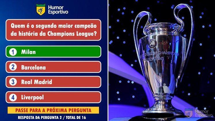 O Milan tem 7 conquistas da Champions League