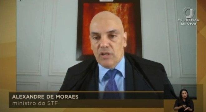 """O ministro Alexandre de Moraes, um dos que votaram contra produção de """"dossiê"""""""