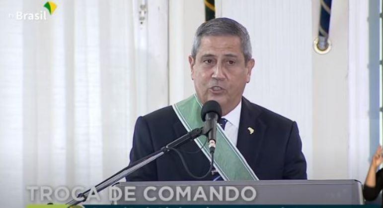 O ministro da Defesa, general Braga Netto
