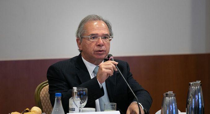 O ministro da Economia, Paulo Guedes, que falou sobre proposta de precatórios