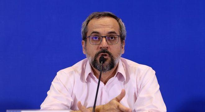 O ministro da Educação, Abraham Weintraub, que se reuniu com o presidente