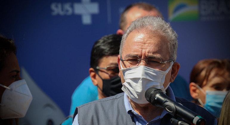 O ministro da Saúde, Marcelo Queiroga