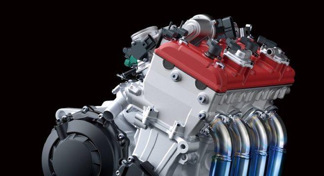 O motor da ZX-10R SE, da Kawasaki, gera 213 cv de potência máxima / Divulgação