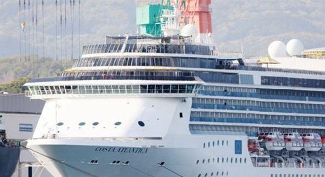 O navio de cruzeiro