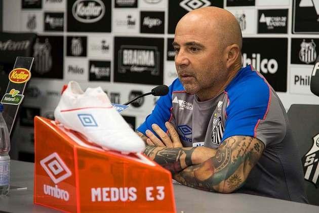 O nome escolhido pela diretoria alviverde para ser o novo treinador do Verdão foi o de Jorge Sampaoli. O argentino havia acabado de conduzir o modesto elenco do Santos à segunda colocação do Campeonato Brasileiro, uma acima do próprio Palmeiras.