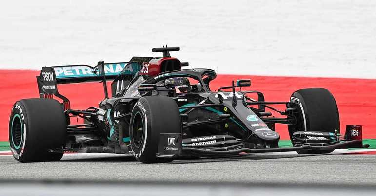 O novo carro da Mercedes foi a sensação do dia no Red Bull Ring