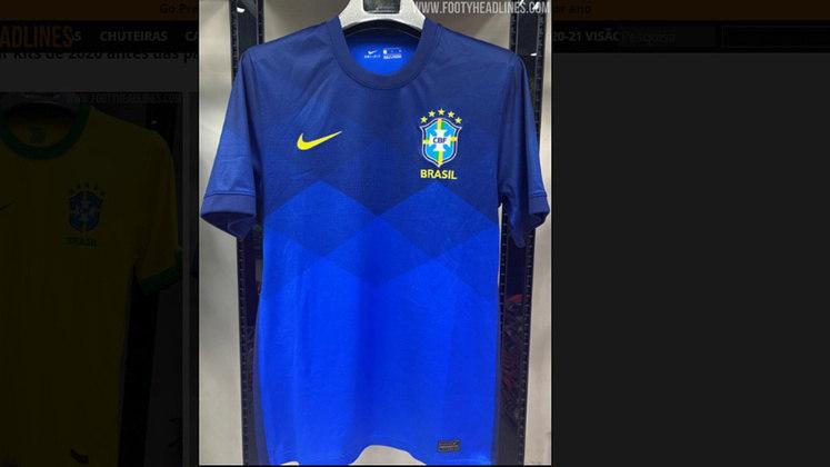 O novo uniforme reserva, em azul, também já foi vazado na internet e terá lançamento em breve