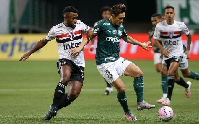 O Palmeiras perdeu pela primeira para o São Paulo no Allianz Parque. A equipe demonstrou pouca capacidade criativa e, mais uma vez desfalcada de Gustavo Gómez, cometeu falhas defensivas - Por Nosso Palestra