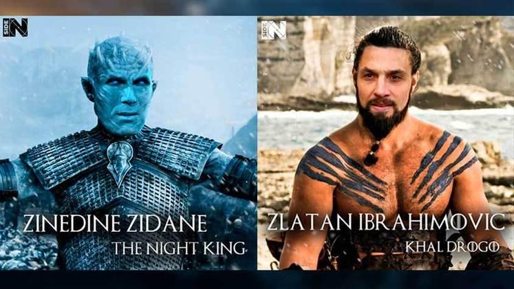 O perfil 'Inside Global' relacionou jogadores e técnicos de futebol com os principais personagens da série Game of Thrones e preparou montagens com a brincadeira. Confira o resultado na galeria!