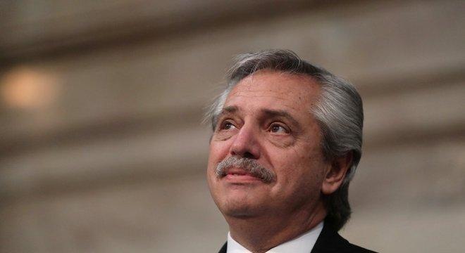 O presidente da Argentina Alberto Fernández não tem alinhamento político com Bolsonaro