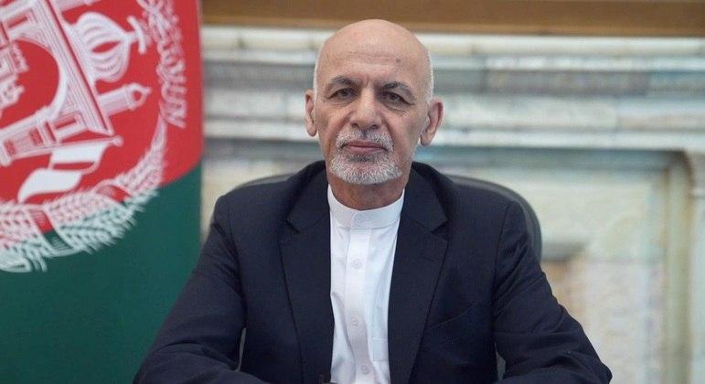 O presidente do Afeganistão Ashraf Ghani