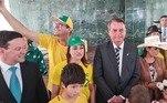 O presidente Jair Bolsonaro durante a solenidade pelo 7 de Setembro, em Brasília