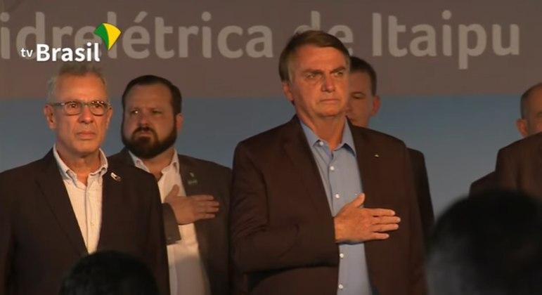 O presidente Jair Bolsonaro em evento em Foz do Iguaçu