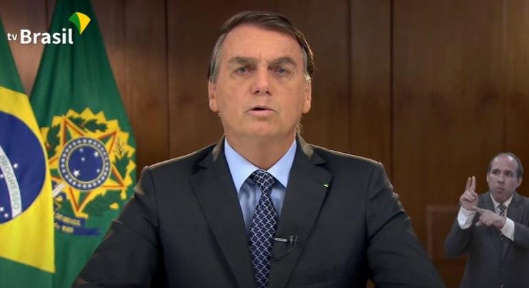 O presidente Jair Bolsonaro, em mensagem ao BID
