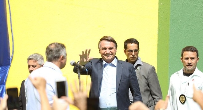 O presidente Jair Bolsonaro em visita à Ceagesp, em São Paulo