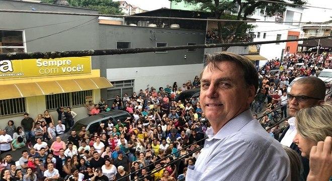 O presidente Jair Bolsonaro, em visita a Eldorado (SP)