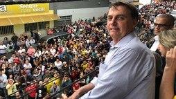 Em Eldorado (SP), Bolsonaro diz em discurso que todos votarão nele 'lá na frente' (Reprodução Facebook)
