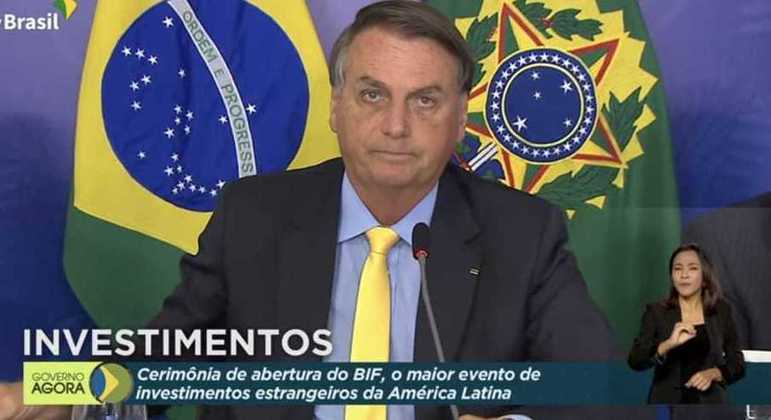 O presidente Jair Bolsonaro no BIF (Fórum de Investimentos Brasil 2021)