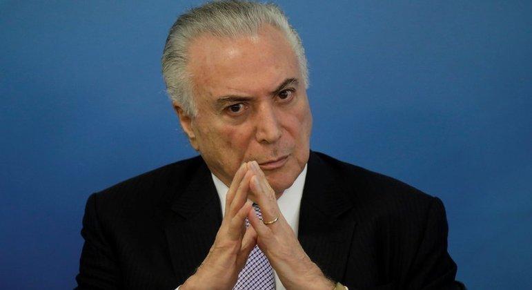 O ex-presidente Michel Temer:  visibilidade turbinada após operação de pacificação em Brasília