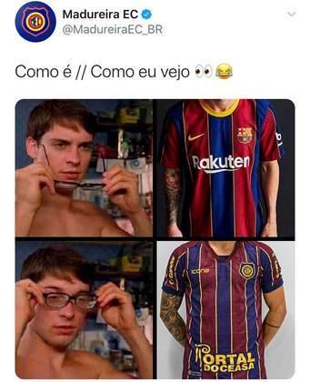 O próprio Madureira usou as redes sociais para brincar com a semelhança entre as camisas