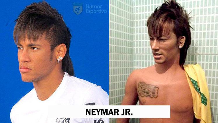 O que acharam dessa escultura do Neymar? O cabelo ficou igual!