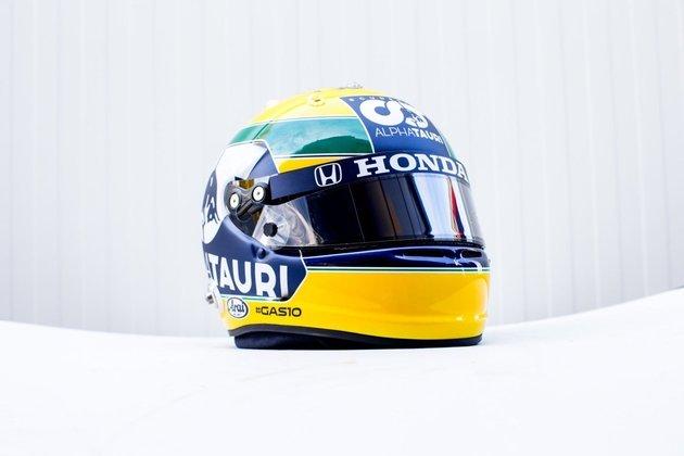 O que chama atenção também é o logo da Honda. Montadora que fornece motores para Alpha Tauri e forneceu para Senna no tricampeonato