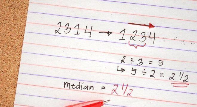 O que é mediana? Definição e diferença entre moda e média