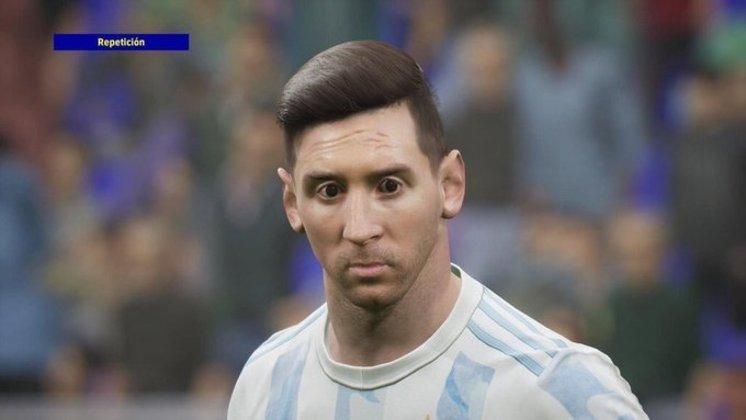 O rosto de Lionel Messi, embaixador do jogo eletrônico, foi o principal motivo para zoeiras.