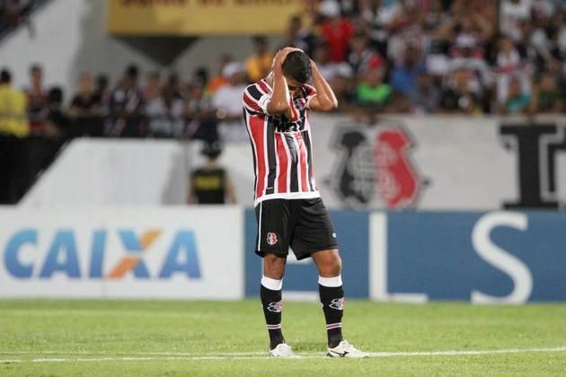 O Santa Cruz aparece na trigésima colocação, com 13 goleadas sofridas em 76 jogos disputados na Série A do Brasileirão desde 2003, quando começou os pontos corridos.