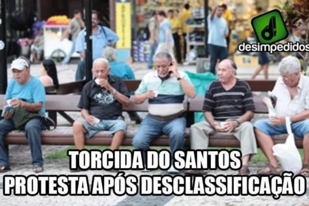 O Santos costuma ser alvo de zoeiras envolvendo a idade dos seus torcedores e o tamanho da torcida