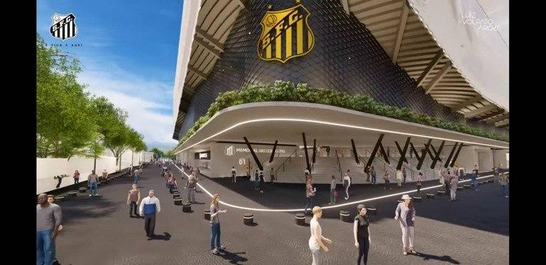O Santos, em parceria com a Wtorre, tem um projeto assinado pelo arquiteto Luiz Volpato, para que o estádio comporte 25 mil pessoas para jogos e 40 mil para shows. Estima-se cerca de R$ 200 milhões para a execução da obra que levaria aproximadamente dois anos para ser concluída
