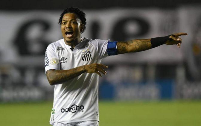 O Santos está desde 2018 sem um patrocinador master, quando a Caixa deixou de estampar sua marca nas camisas dos clubes brasileiros. Contando com a fornecedora esportiva Umbro, o Peixe tem oito marcas no seu uniforme.