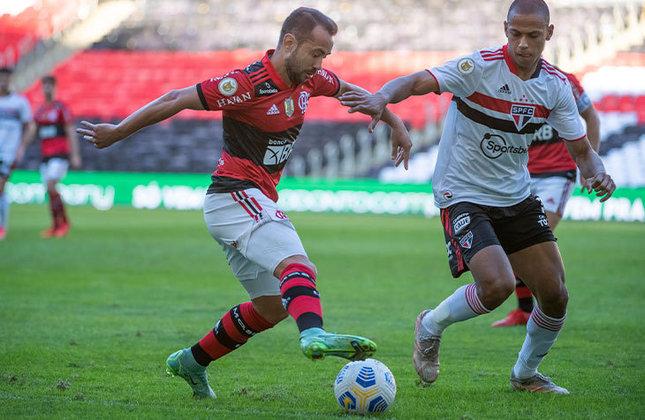 O São Paulo até abriu o placar contra o Flamengo, mas levou a virada e sofreu uma goleada no Maracanã, muito por conta do apagão defensivo da equipe.  Veja as notas dos jogadores do Tricolor Paulista